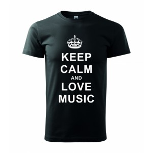 Tričko - Keep calm and love music