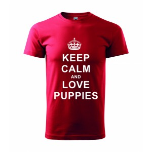 Tričko - Keep calm and love puppies