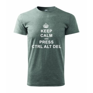 Tričko - Keep calm and press ctrl alt del