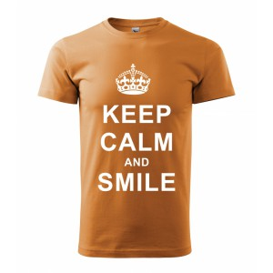 Tričko - Keep calm and smile