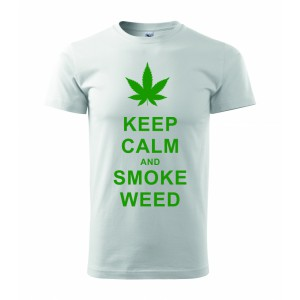 Tričko - Keep calm and smoke weed